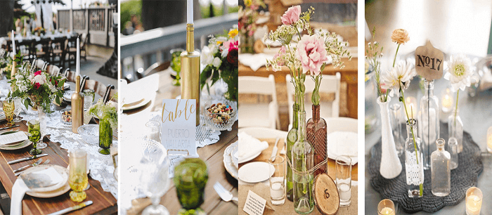 botellas decoradas para bodas
